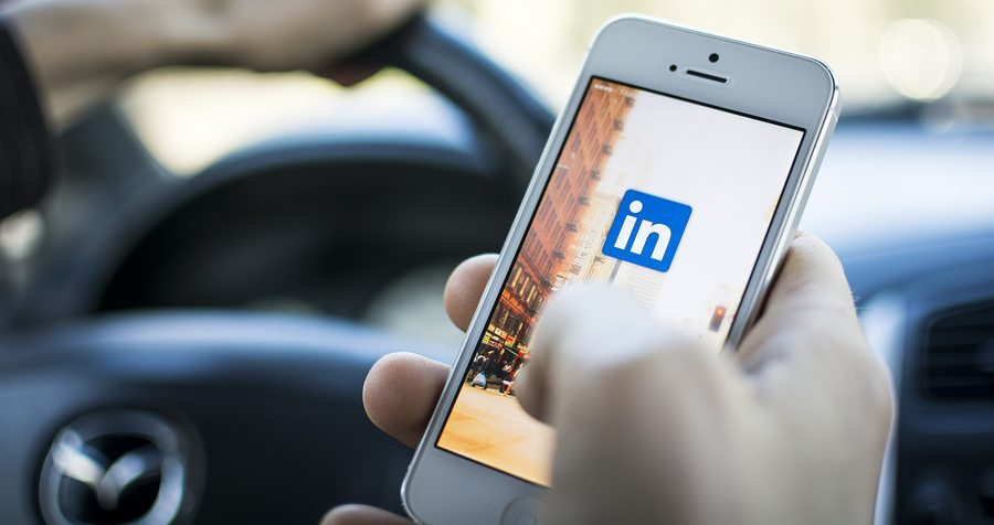 LinkedIn on cell phone