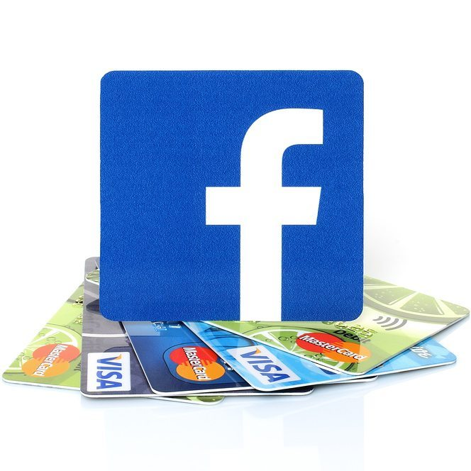 facebook on credit cards square