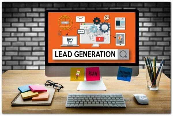 lead generation computer graphic