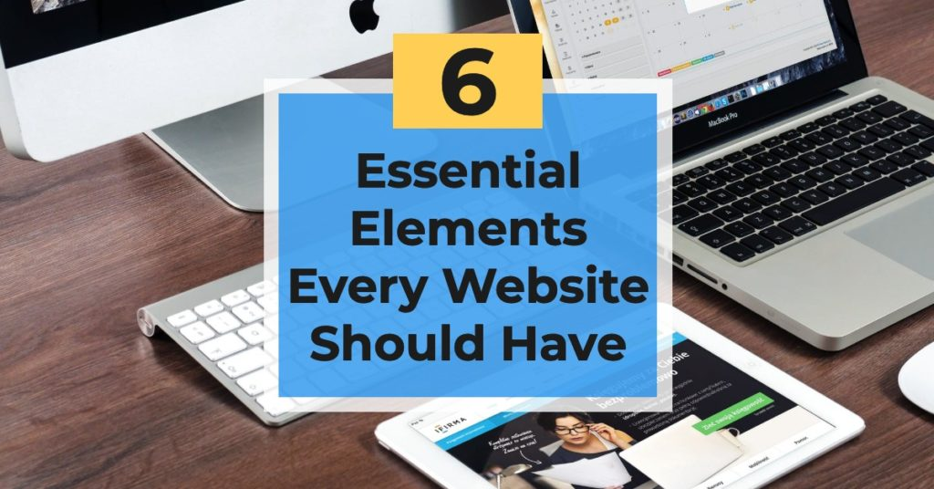 blog title six elements for a website