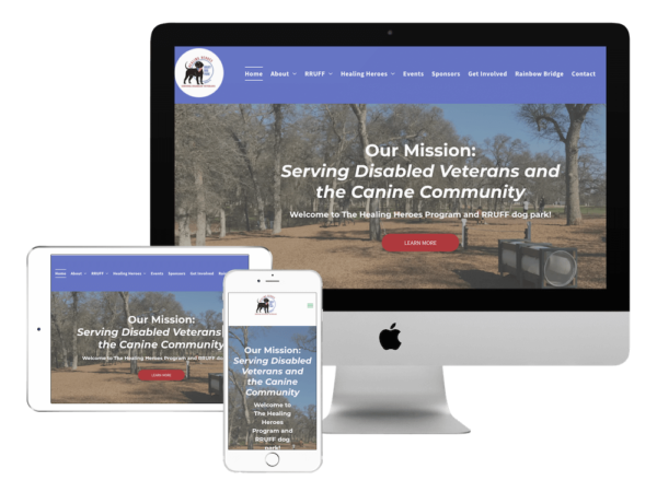 RRUFF Healing heroes website for portfolio